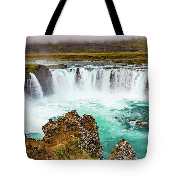 Godafoss Waterfall, Iceland Tote Bag
