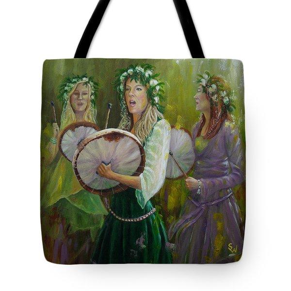 Goddess Drummers Tote Bag