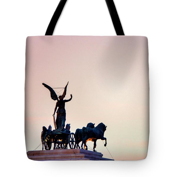 Tote Bag featuring the photograph Goddess Victoria At Sunset by Fabrizio Troiani
