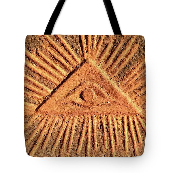 God's Eye - Old Relief Tote Bag