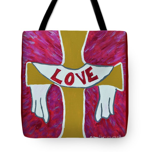 Tote Bag featuring the painting God's Love by Christopher Farris