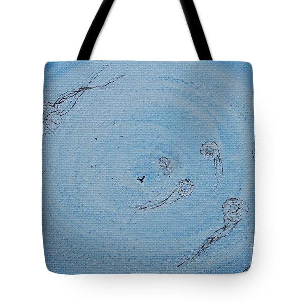 Tote Bag featuring the painting Going Deeper by Kim Nelson
