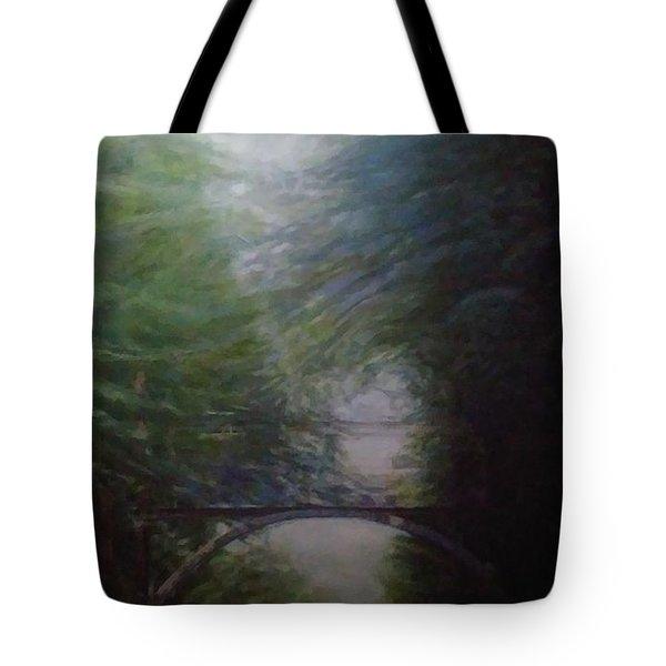 Going East Under The Forest Park Pedestrian Bridge Tote Bag