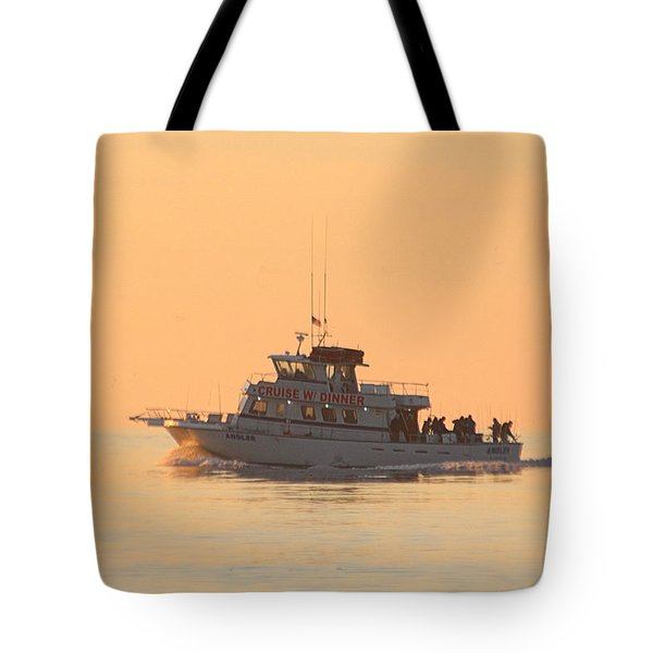 Tote Bag featuring the photograph Going Fishing On The Angler by Robert Banach