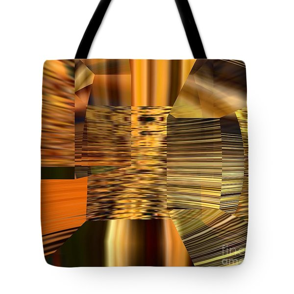 Tote Bag featuring the digital art Gold  by A z Mami