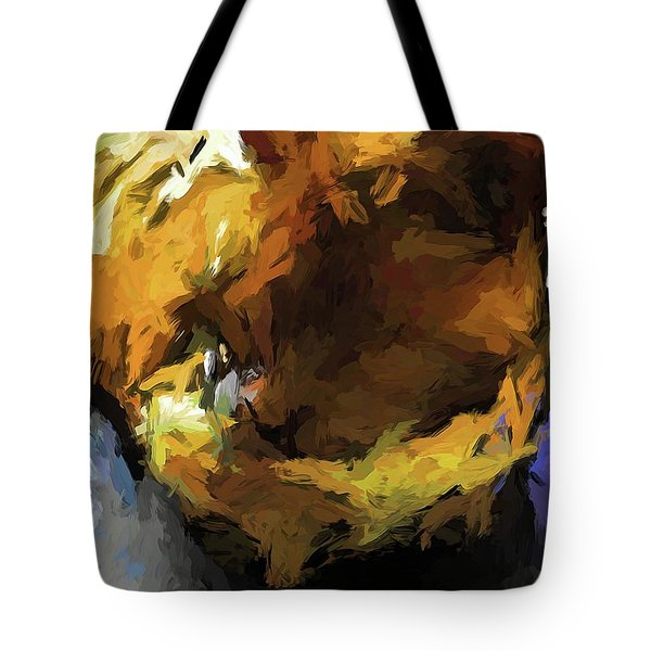 Gold Cat And The Shadow Tote Bag