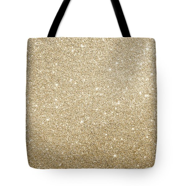Tote Bag featuring the photograph Gold Glitter by Top Wallpapers