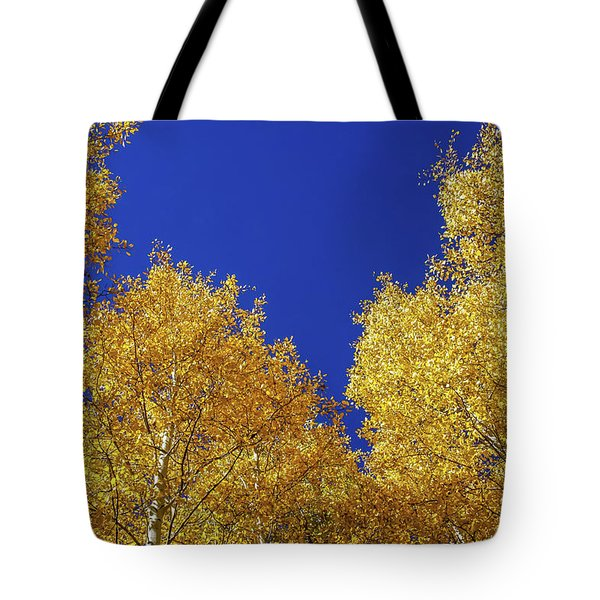 Golden Aspens And Blue Skies Tote Bag