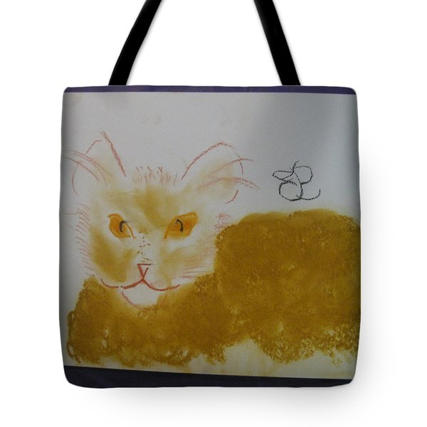 Golden Cat Tote Bag
