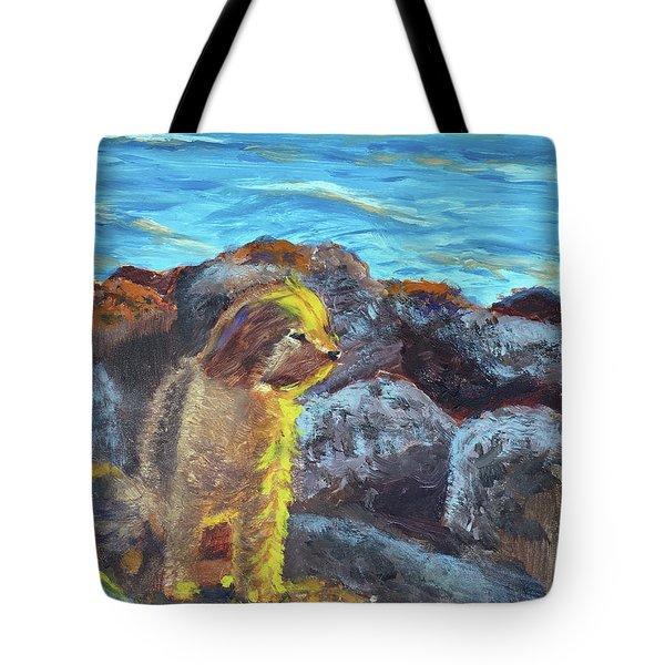Golden Dog Tote Bag