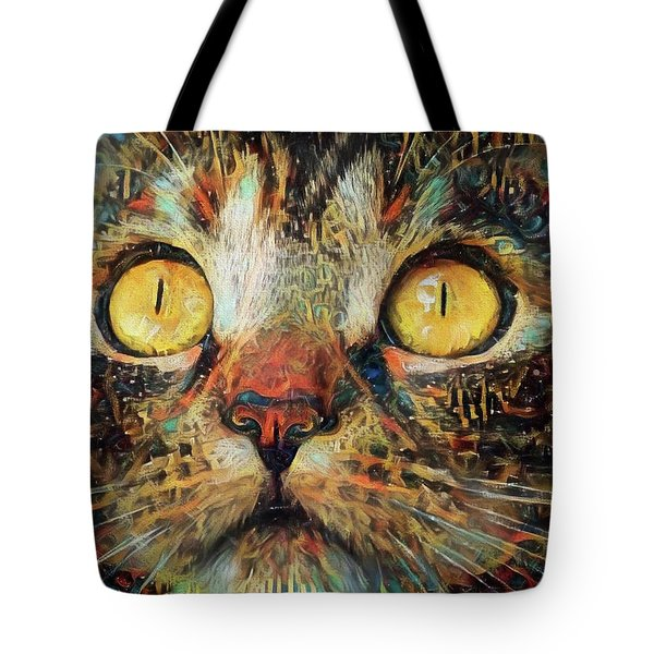 Golden Eyes Dreaming Tote Bag