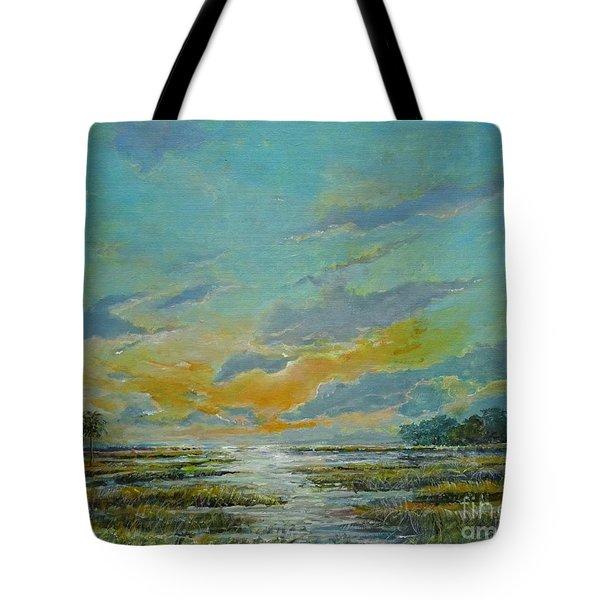 Golden Florida Dusk Tote Bag