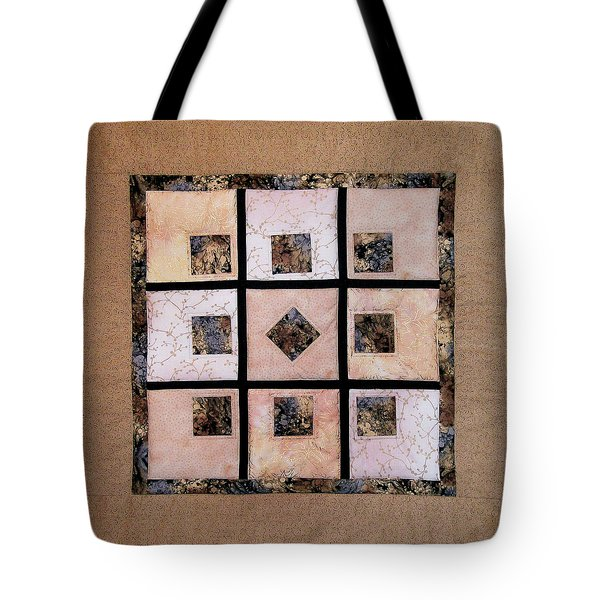 Golden Frost On The Window Tote Bag