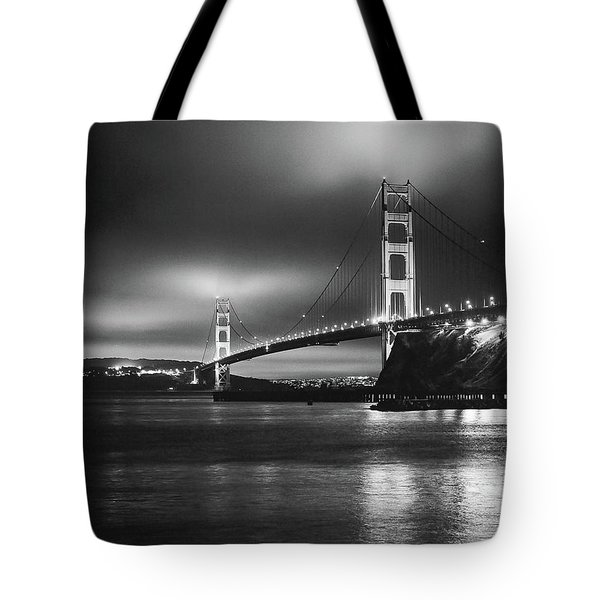 Golden Gate Bridge B/w Tote Bag