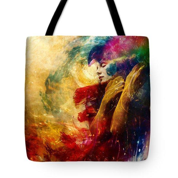 Golden Gloom Tote Bag