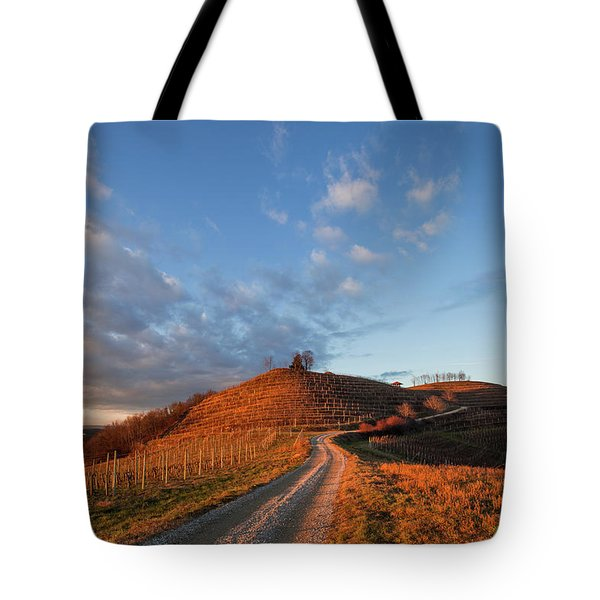 Tote Bag featuring the photograph Golden Hill by Davor Zerjav