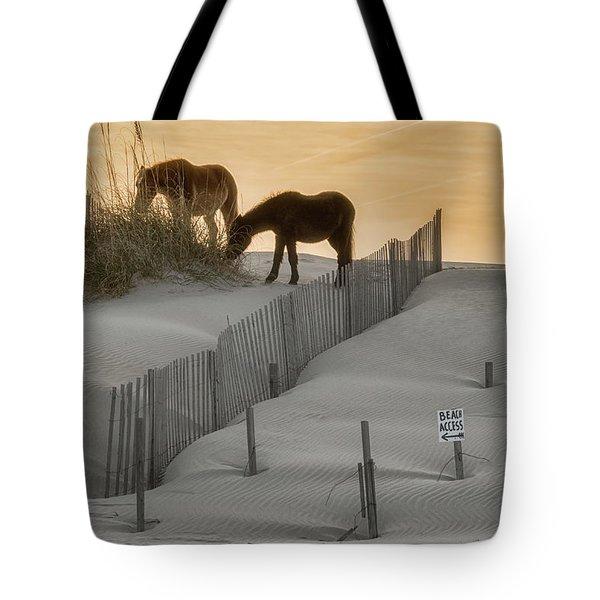 Golden Horses Tote Bag