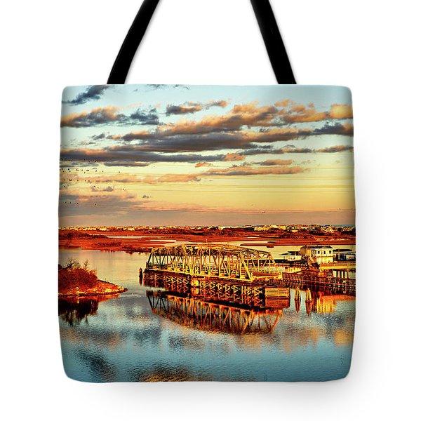 Golden Hour Bridge Tote Bag