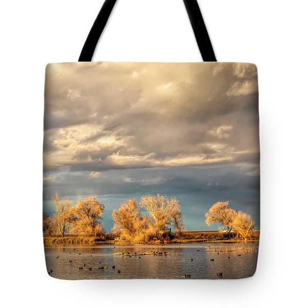 Golden Hour In The Refuge Tote Bag