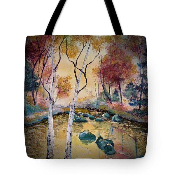 Golden Illumination Tote Bag