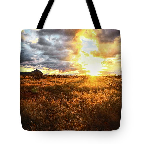 Golden Light Of Southern Arizona Tote Bag