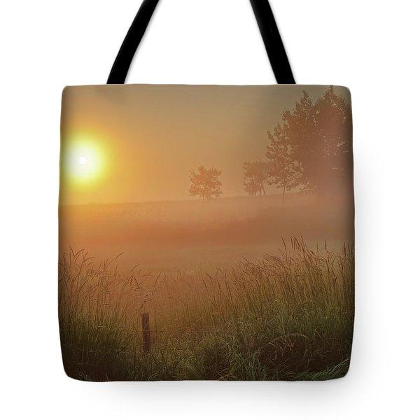 Golden Morning Tote Bag