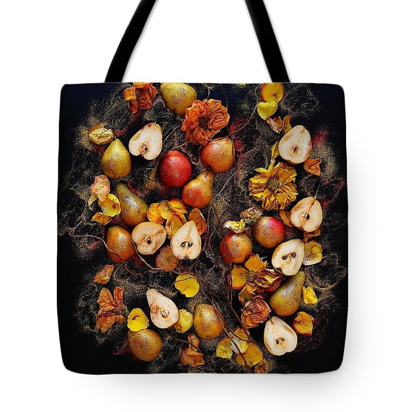 Golden Pear Tree Tote Bag