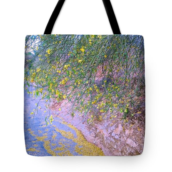 Golden Petals In A Desert Wash Tote Bag