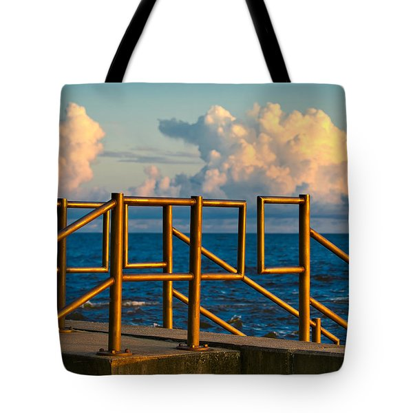 Golden Railings Tote Bag