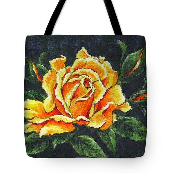 Golden Rose Sketch Tote Bag