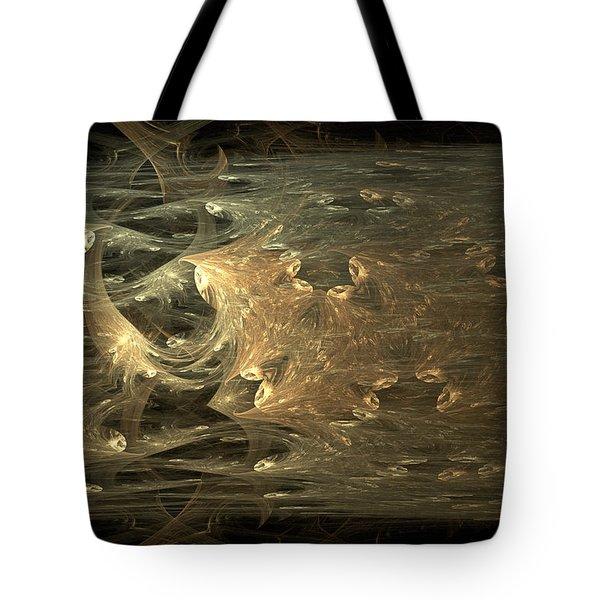 Golden Soul - Modern Abstract Art Tote Bag