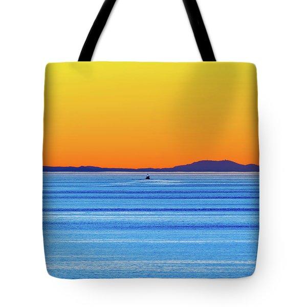 Golden Sunset Series I I Tote Bag