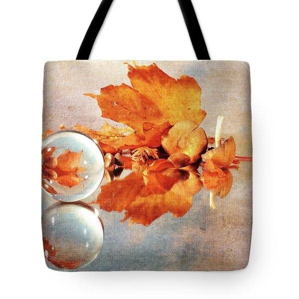 Tote Bag featuring the photograph Golden Tones Of Fall by Randi Grace Nilsberg