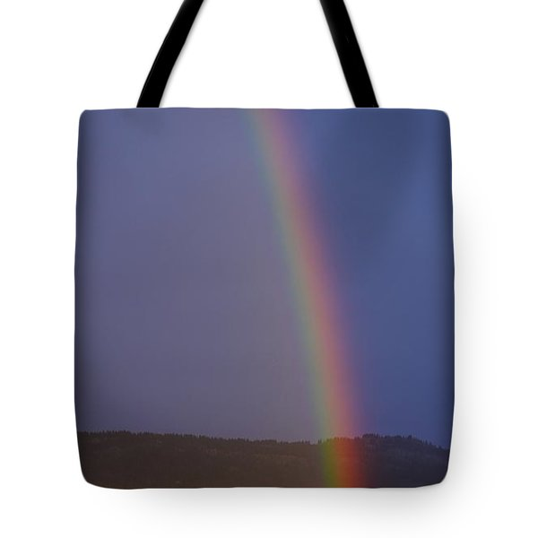 Golden Tree Rainbow Tote Bag