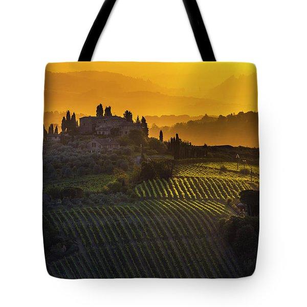 Golden Tuscany Tote Bag