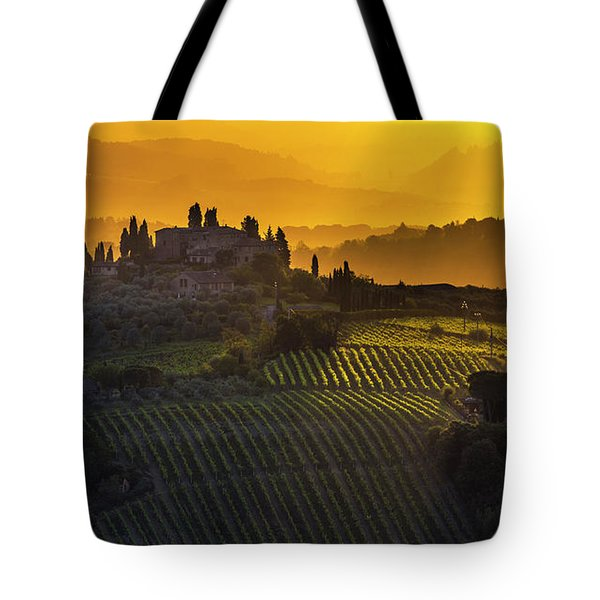 Golden Tuscany Tote Bag