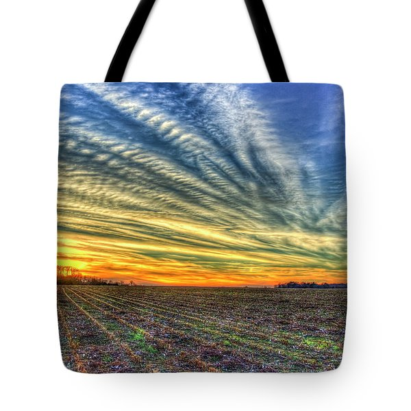 Gone With The Wind Sunset Oconee County Georgia  Landscape Farming Art Tote Bag