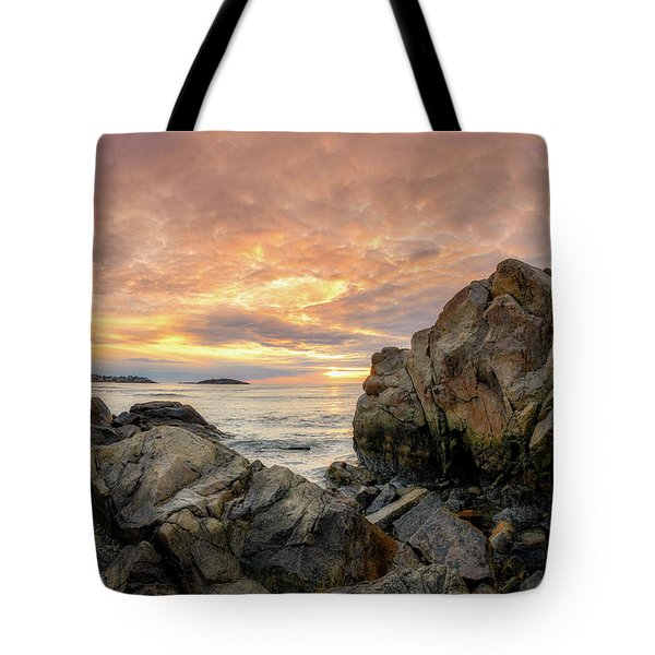 Tote Bag featuring the photograph Good Harbor Rock View 1 by Michael Hubley