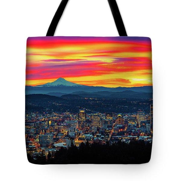 Good Morning Portland Tote Bag