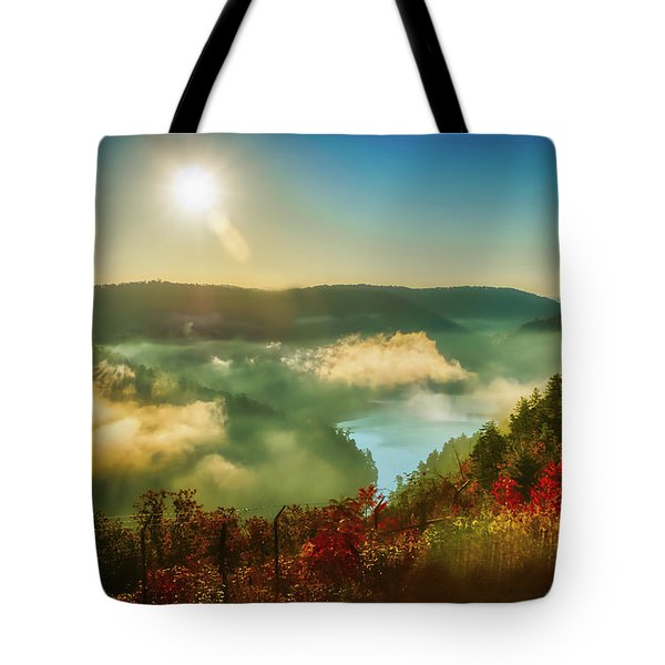 Tote Bag featuring the photograph Gorge Sunrise by Meta Gatschenberger