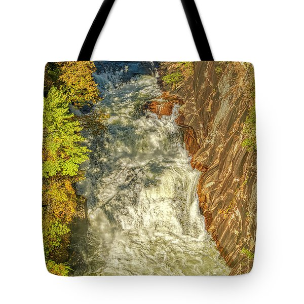 Tote Bag featuring the photograph Gorge Waterfall by Meta Gatschenberger