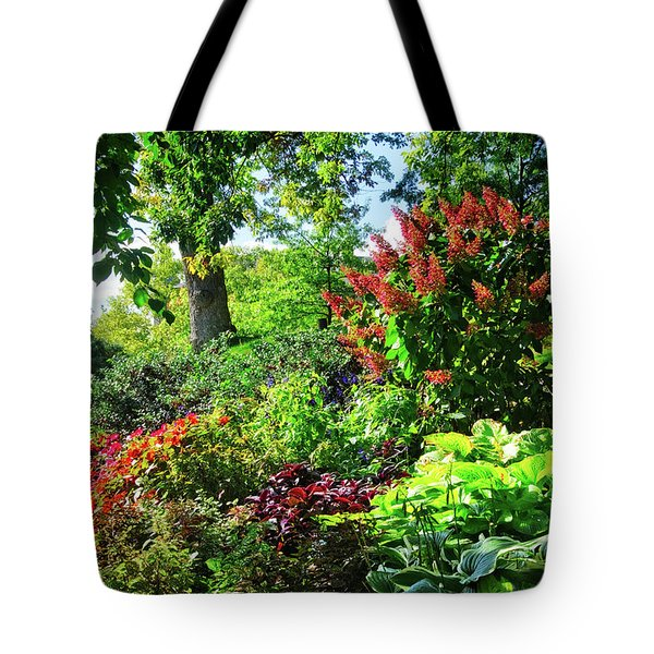 Tote Bag featuring the photograph Gorgeous Gardens At Cornell University - Ithaca, New York by Lynn Bauer