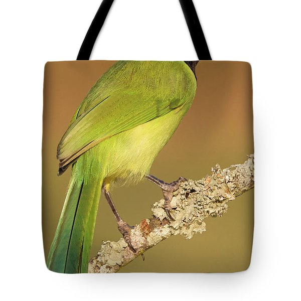 Gorgeous Green Jay Tote Bag