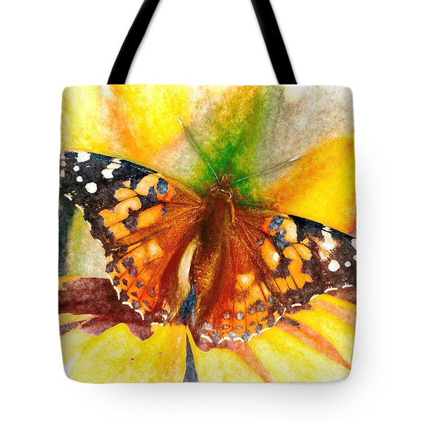 Gorgeous Painted Lady Butterfly Tote Bag