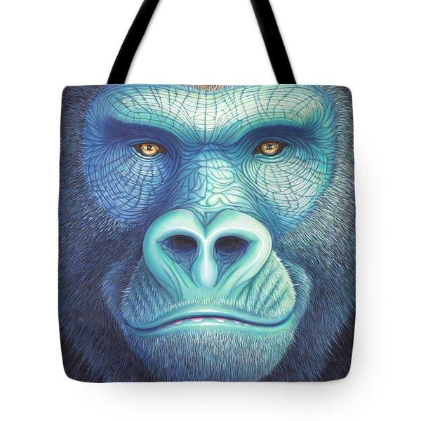 Gorilla Face Tote Bag