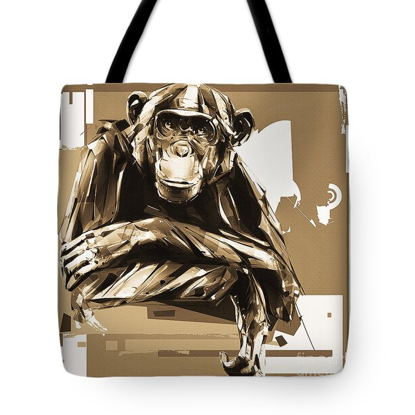 Gorilla Illustration  Tote Bag