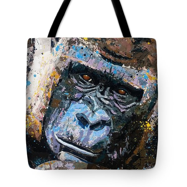 Gorilla  Large Artwork Tote Bag