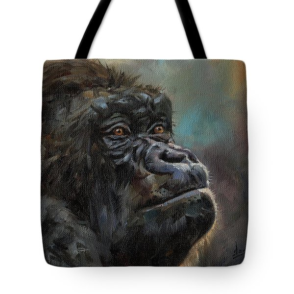 Gorilla Portrait Tote Bag