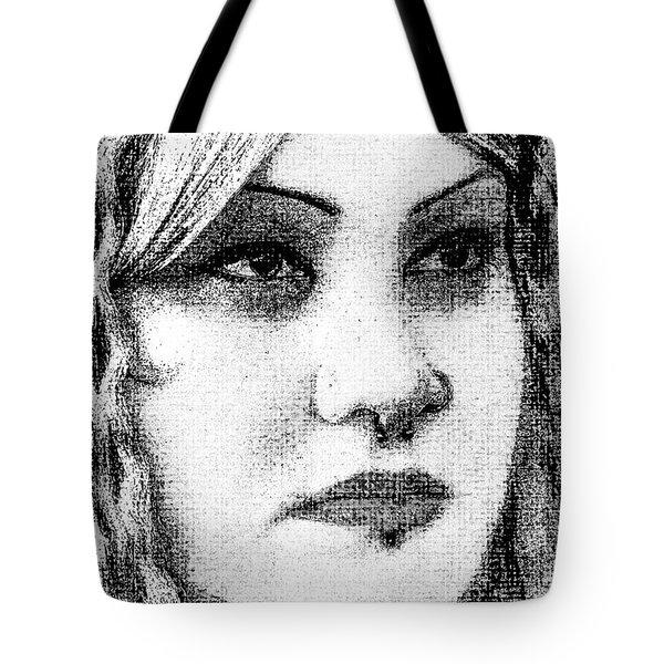 Goth Headshot Tote Bag