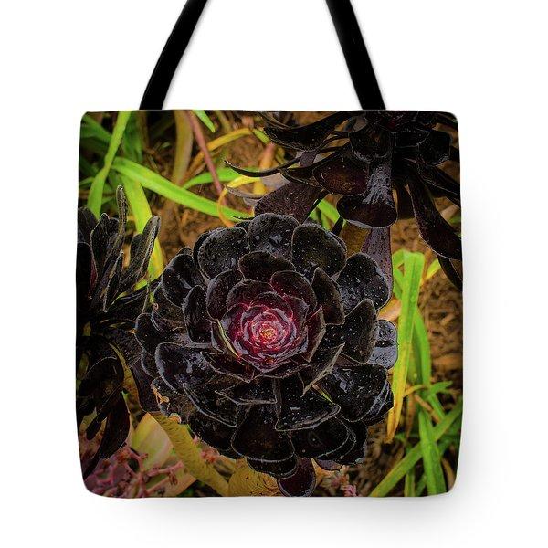 Goth Succulent Tote Bag